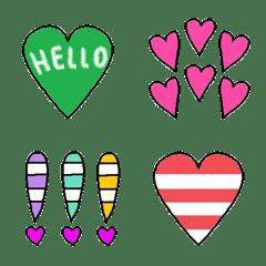Various heart set emoj