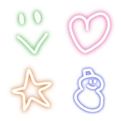 Adult neon emoji