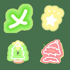 Handwritten neon Emoji