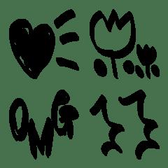 單色簡單表情符號[標記樣式]