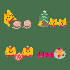 聖誕節橘貓快樂分隔裝飾線