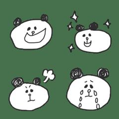 Monochrome graffiti Panda(Emoji)