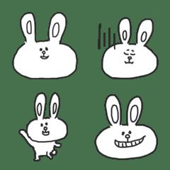 Graffiti touch white Rabbit(Emoji)