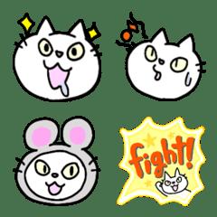 white cat porin emoji