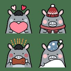 Very cute and funny donkey emoji