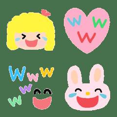 Various laugh set emoji2