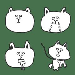 Cute White Shiba Inu(Emoji)