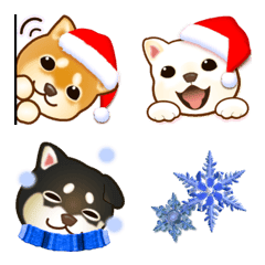 Dogs over Flowers2 (Christmas& new year)