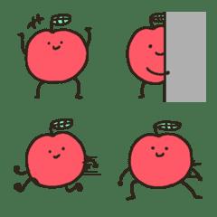 อิโมจิไลน์ Fruit note apple version Emoji