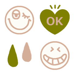 various simple face set8 subdued color line emoji line store line store