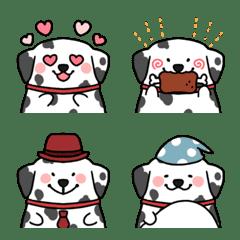 Very cute dalmatian emoji