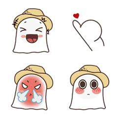 Little Ghost & Hat Emoji