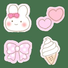 อิโมจิไลน์ Fluffy girly pastel Emoji