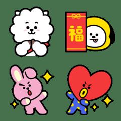 อิโมจิไลน์ BT21 New Year's Gift Emoji