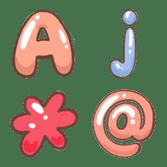 อิโมจิไลน์ ตัวอักษรน่ารัก ภาษาอังกฤษ