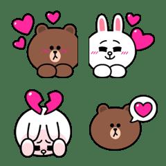 熊大兔兔情侶檔★熱戀表情貼