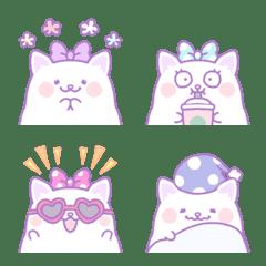 Dreamy and fancy cute cat emoji