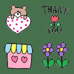 Various set emoji 103 adult cute simple