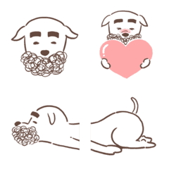 "Emoji of bearded dog ""Higenojo"""