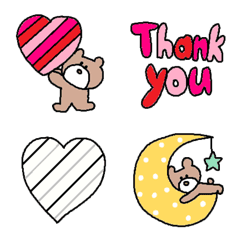 Various set emoji 105 adult cute simple