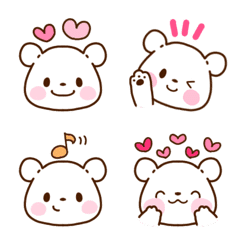 อิโมจิไลน์ shiro kuma emoji