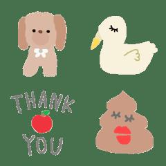 Various set emoji 107 adult cute crayon