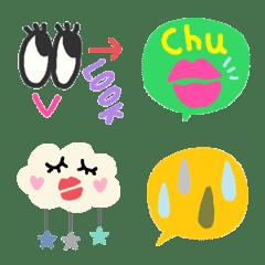 Various set emoji 109 adult cute crayon
