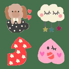 Various set emoji 108 adult cute crayon