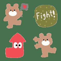 Various set emoji 110 adult cute crayon