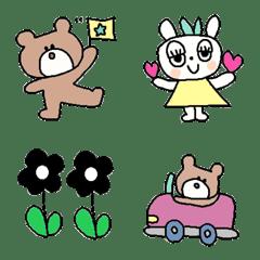 Various set emoji 113 adult cute simple