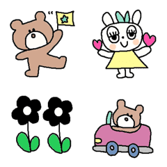 Various set emoji 113 adult cute simple