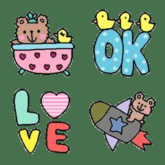 Various set emoji 115 adult cute simple