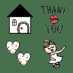 Various set emoji 116 adult cute simple