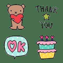 Various set emoji 117 adult cute vivid