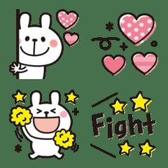Rabbit emoji that conveys feelings