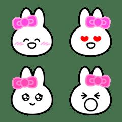 Usable rabbit face Emoji.