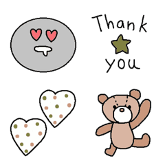 Various set emoji 117 adult cute simple