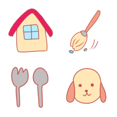 Commonly used pastel color emoji