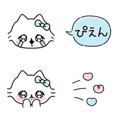 I send a cute message with a cat.