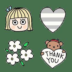 Various set emoji 119 adult cute simple