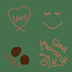 Handwritten emoji latte col...