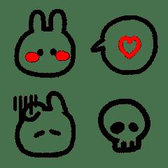 simple rabbit Valentine Emoji