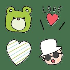 Various set emoji 121 adult cute simple