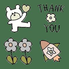 Various set emoji 123 adult cute simple