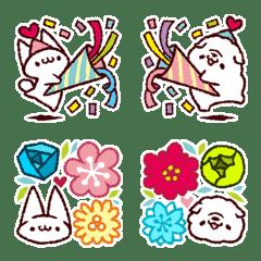 Emoji of Mr. kitten & puppy-kun 2