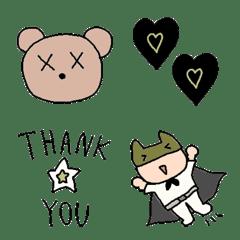 Various set emoji 128 adult cute simple