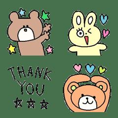 Various set emoji 129 adult cute simple