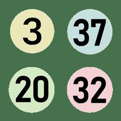 อิโมจิไลน์ ตัวเลขสีกลมน่ารัก (1-40)