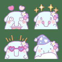Dreamy and very cute elephant emoji