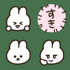 Very cute white rabbit emoji